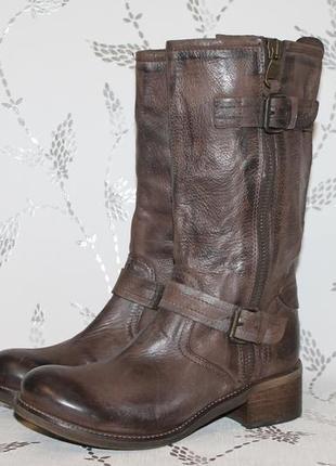 Модные кожаные сапоги keb made in italy 40 размер