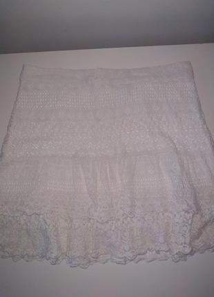 Кружевная юбка белая