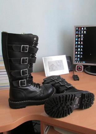 Кожаные ботинки steel, на ножку 23,5