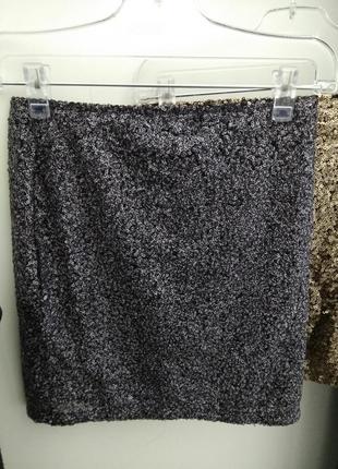 Юбка юбочка блестящая шикарная очень красивая паетки люрекс праздничная вечернее