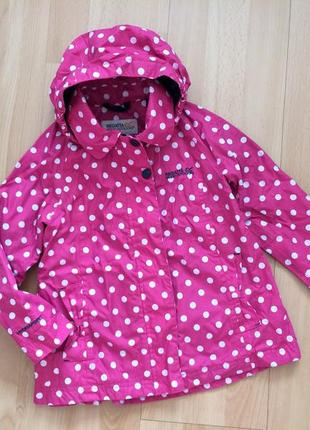Демисезонная куртка ветровка regatta esmeralda girls kids waterproof