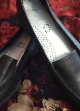 Кожаные туфли балетки лоферы footglove