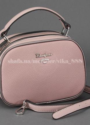 Клатч, сумка кросс боди на два отделения david jones 5952-1 розовый