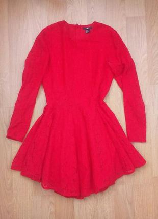 Очень красивое платье h&m кружево сетка пышное короткое