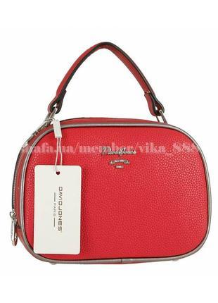 Клатч, сумка кросс боди на два отделения david jones 5952-1 красный