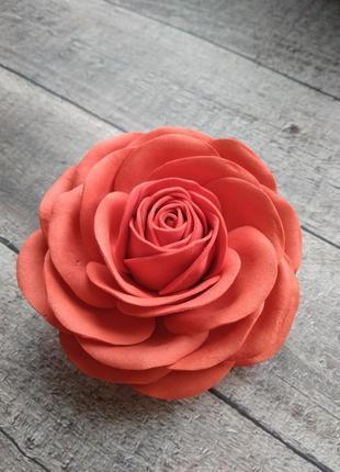 Заколка/брошь роза
