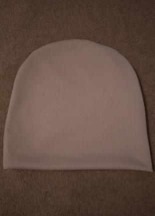 Новая темно бежевая шапочка бини, разные цвета2 фото