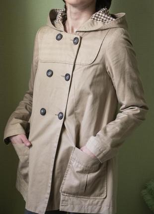 Тренч трапеция, демисезонная куртка с капюшоном. vero moda. xs-s
