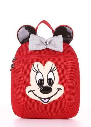 Крутой текстильный рюкзак для девочки мини рюкзачок  микки маус мини маус