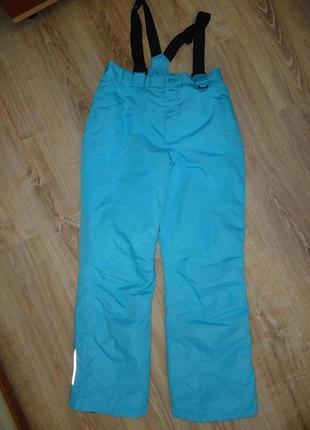 Зимние горнолыжные брюки голубого цвета на рост 146-152 см