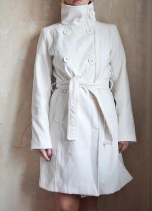Белое пальто mango (m)