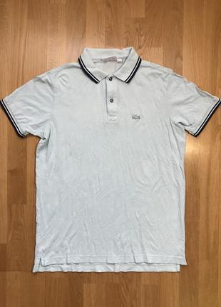 Поло/футболка/тенниска lacoste polo white crocodile logo