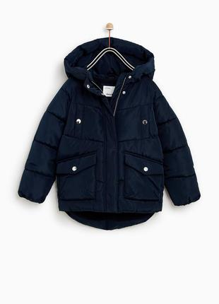 Куртка zara р 152 синяя осень-весна