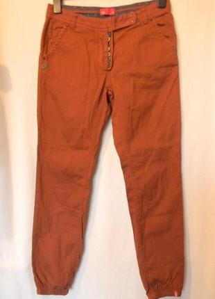 Терракотовые женские брюки чинос от edc