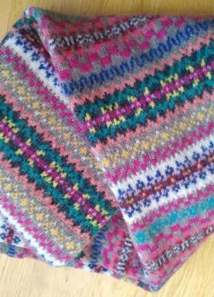 Шикарный двойной длинный шарф 100% шерсть ягненка от gap