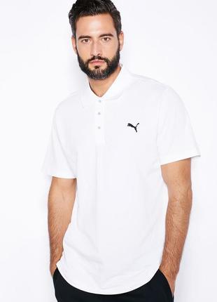 Поло/футболка/тенниска puma essential button up white mens polo