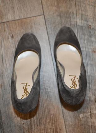 Yves saint laurent оригинал !100% туфли замш 39размер/как новые