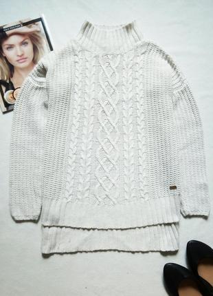 Теплый шерстяной свитер оверсайз с горлом kappahl