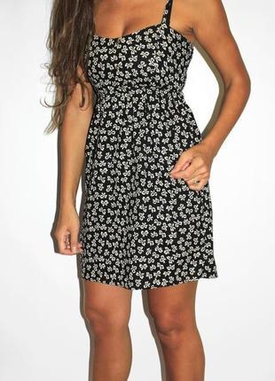 Черное платье в бантиках ( хлопок ) -- срочная уценка 119 грн --