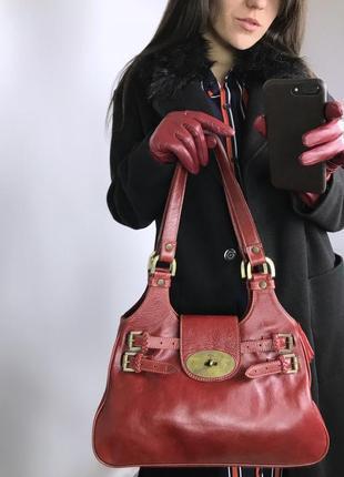 Вишнёвая сумка mulberry