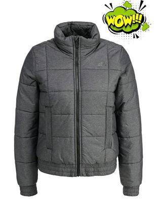 Распродажа! женская темно-серая куртка-пуховик от adidas performance