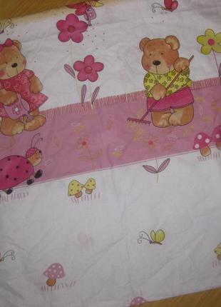 Красивый пододияльник на детское одеяло размером 90*120 см