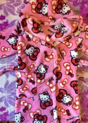 Теплый яркий халат на девочку, 2-4 года, хеллоу китти, кити, hello kitty