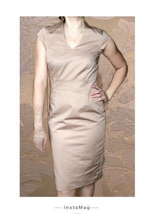 Шикарное платье-футляр в стиле nude.рр s/m.б/у.состояние нового!