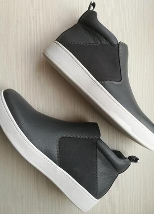 Стильные ботинки хайтопы от calvin klein. (оригинал, сша)