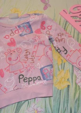 Свитшот свинка пеппа. некст . 2-3 года