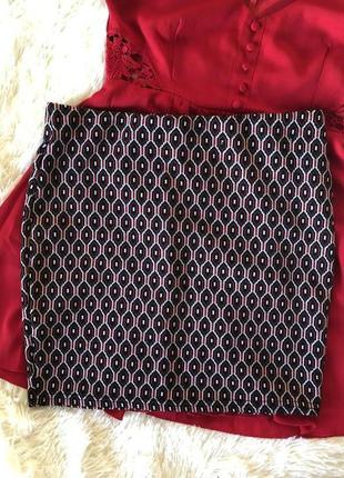 Красивая фактурная юбка primark
