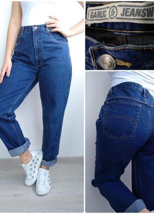 Джинсы бойфренды garlic jeanswear с высокой посадкой мом mom jeans