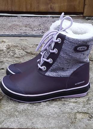 Кожаные зимние снегоходы ботинки keen 34 р. оригинал