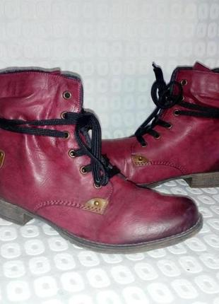 Rieker, оригинал, 38р стильние ботинки, бордо