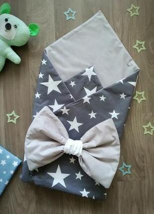 Конверт на выписку для новорожденных плед одеяло