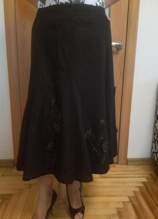 Стильная хорошенькая юбка. лен и вискоза. размер 54.