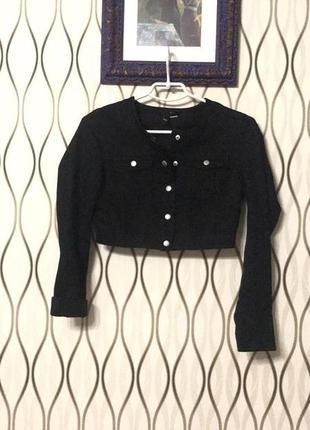 Укороченная джинсовая куртка h&m!