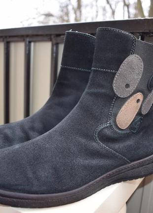 Замшевые демисезонные ботинки ара ara fitness р.9 р.43 28,4