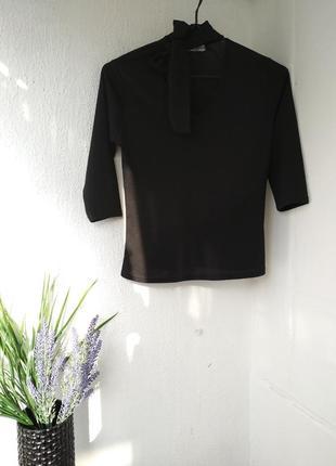 Блуза с завязкой бантом-галстуком