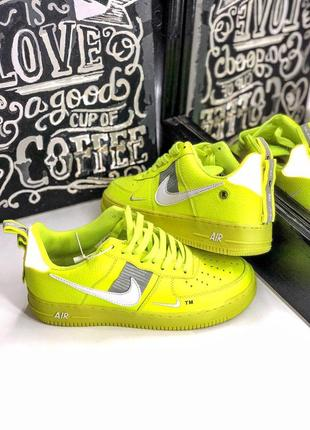 Шикарные кроссовки nike air force 1 low yellow (40-44)2