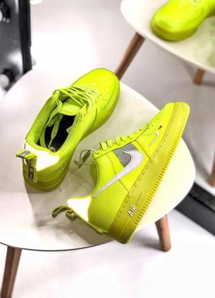 Шикарные кроссовки nike air force 1 low yellow (40-44)4