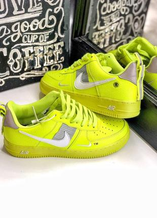 Шикарные кроссовки nike air force 1 low yellow (40-44)1