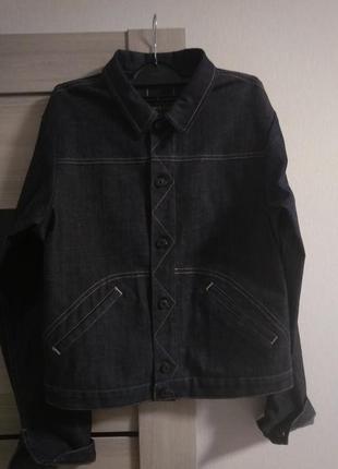 Стильный джинсовый пиджак дорогой бренд marithe +francois girbaud италия