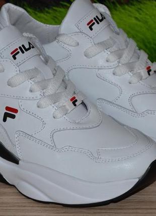 Сникерсы кроссовки натуральная кожа м45б качество fila размеры 36 37 38 39 40 41