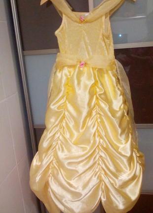 Карнавальное платье принцессы белль на 8-10 лет
