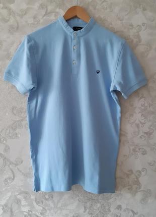 Голубое поло zara , голубая мужская футболка zara, тениска zara!