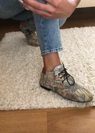 Кожаные ботиночки  vicino{ испания}