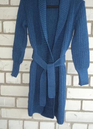 5efabb4f7f9e Вязаный пальто-кардиган синего цвета, цена - 389 грн, #298286 ...