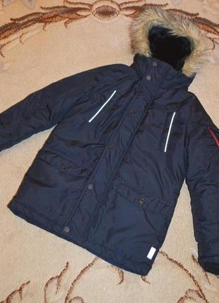 Удлиненная зимняя куртка парка next р.10 лет 140 см