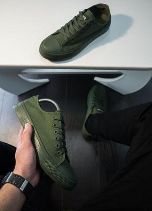 Мужские кеды кроссовки! цвет хаки!2 фото